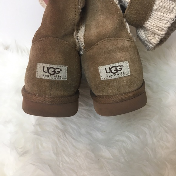 93e1eb550e6 Ugg Cambridge knit buckle boots chestnut 7